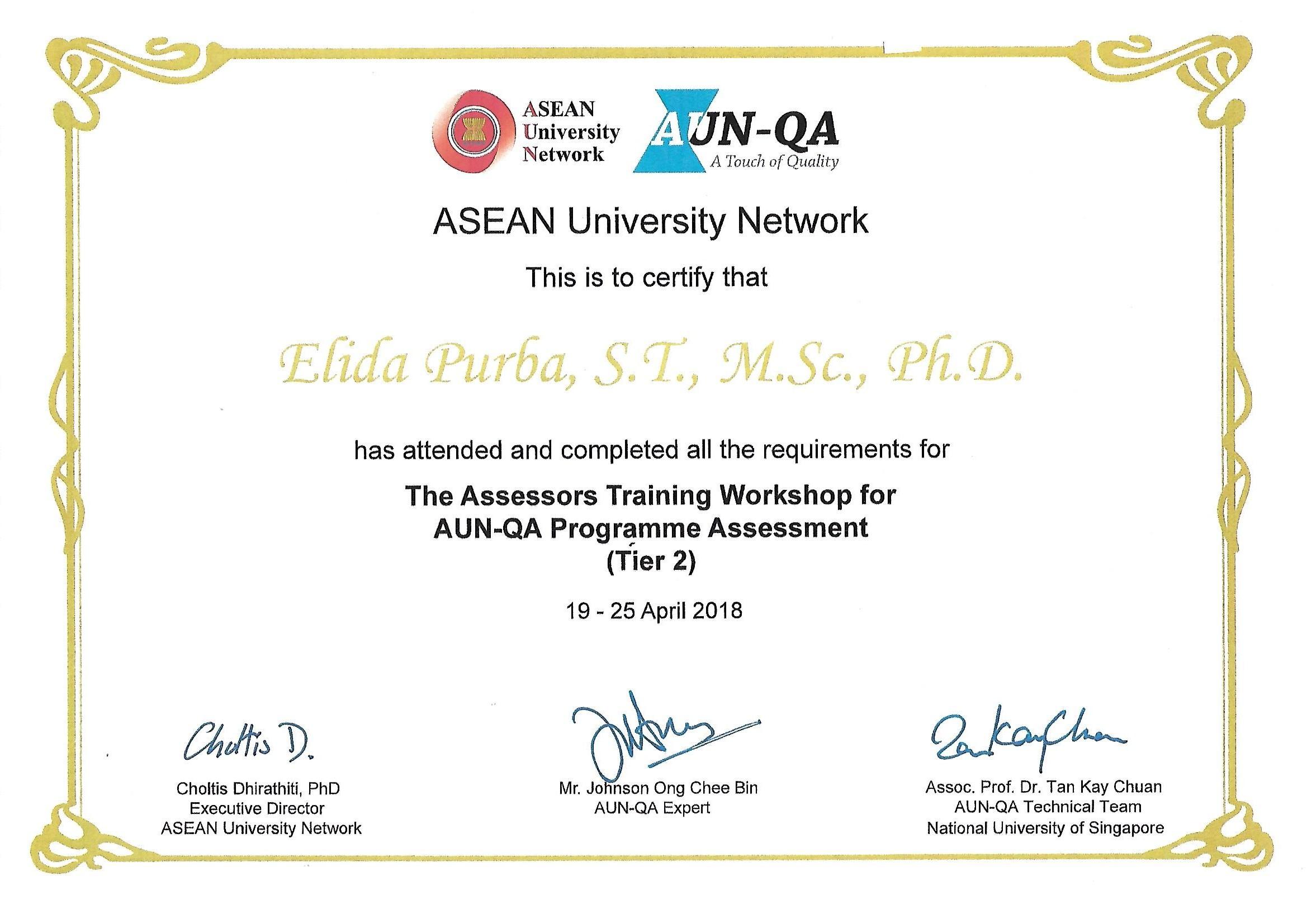 Certificate_Assesors AUN-QA_Elida Purba